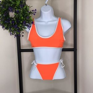Orange two piece bikini
